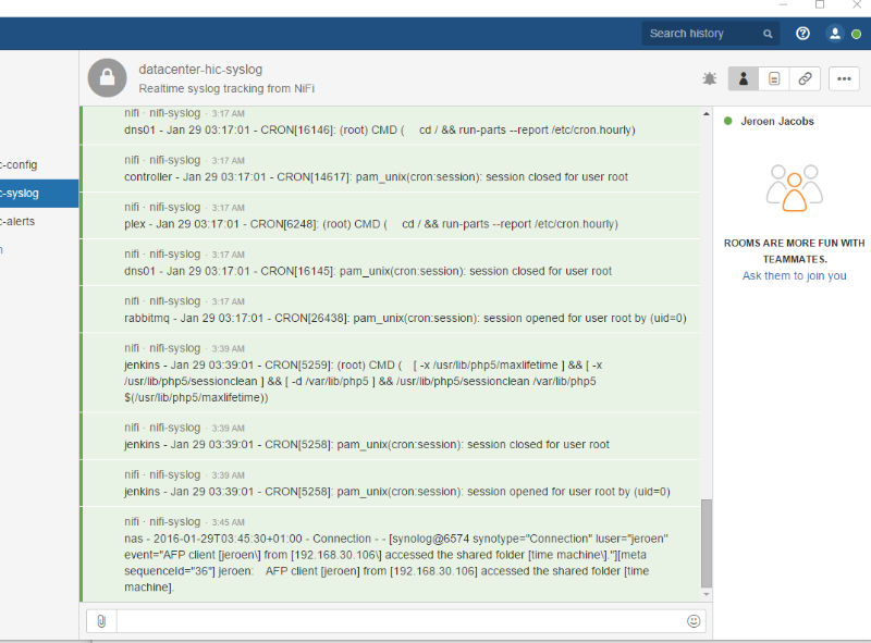 hipchat screenshot